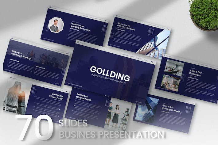 Thumbnail for Gollding Business Keynote Template