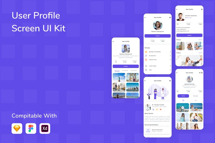 Thumbnail for User Profile Screen UI Kit