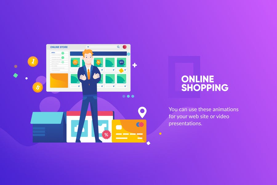 Online shopping Banner & Landing Page