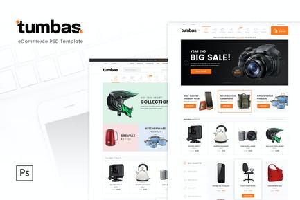 Tumbas - eCommerce PSD Template