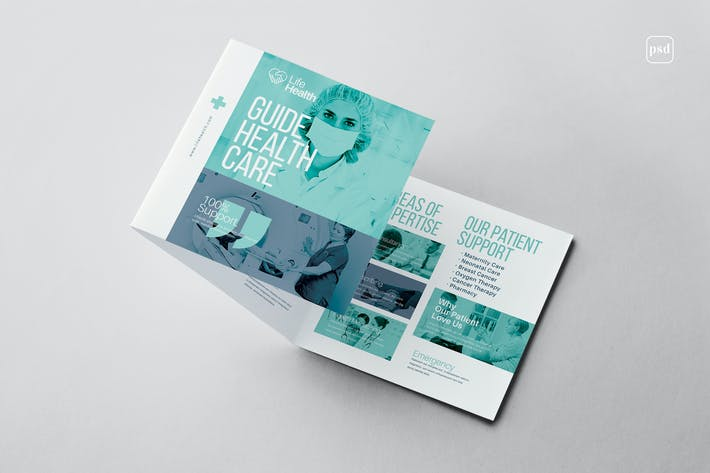 Thumbnail for Modern Medical Square Trifold Brochure