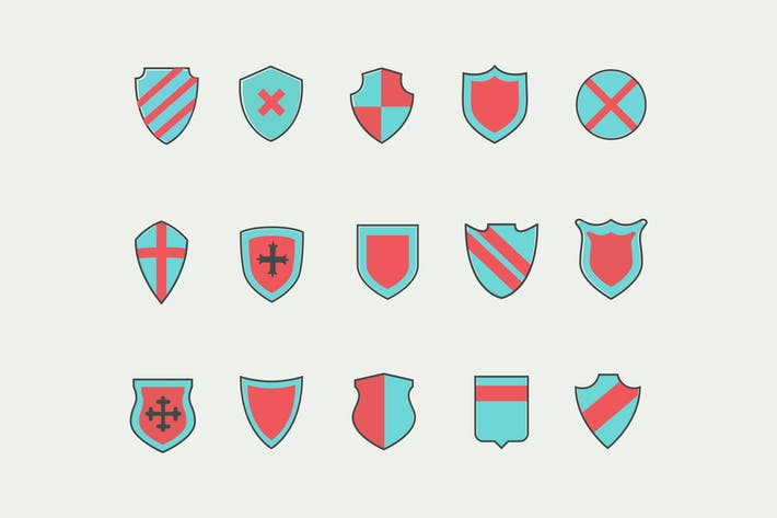 Thumbnail for 15 Shield Icons