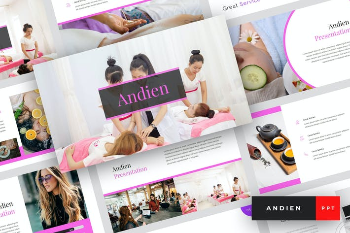 Thumbnail for Andien - Spa & Beauty PowerPoint Template
