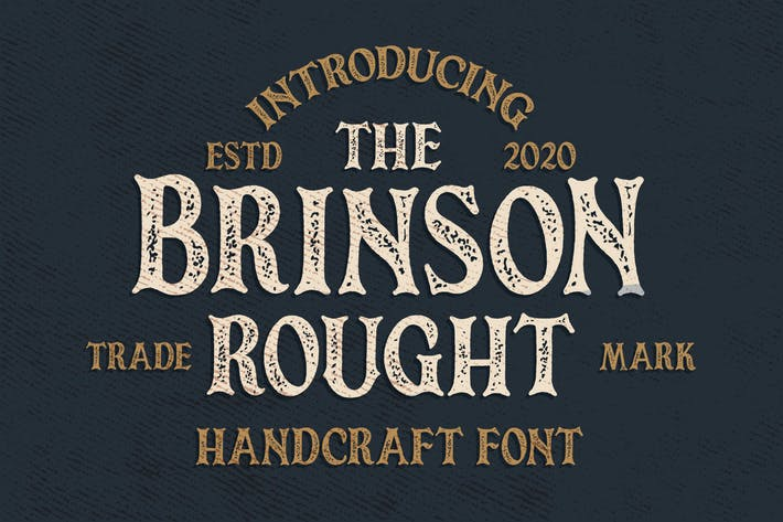 Thumbnail for Brinson Rought - Vintage Serif Font