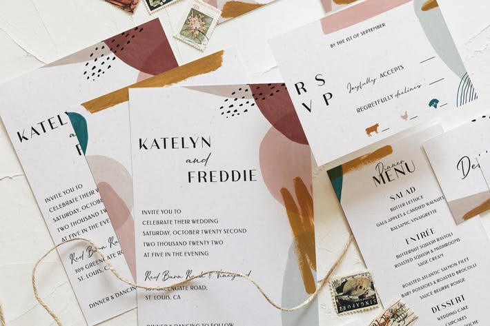 Thumbnail for Abstract Watercolor Wedding Suite