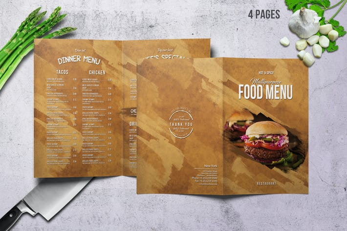 Thumbnail for Multipurpose Food Menu - Bifold - A4 & US Letter