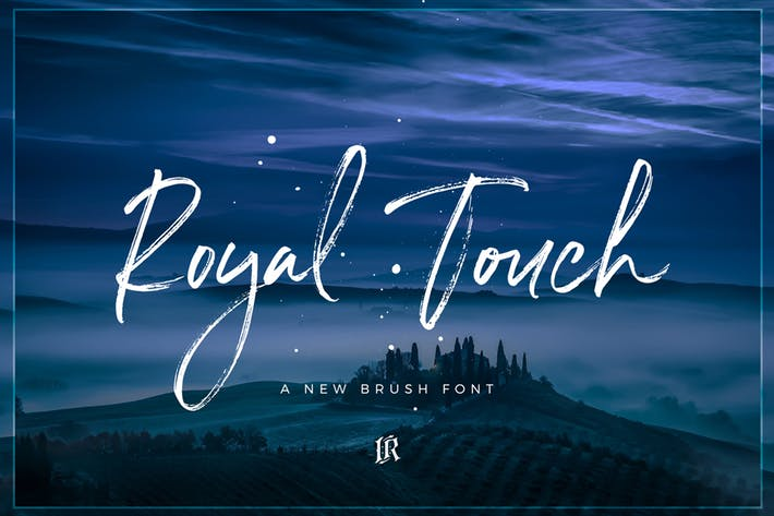 Thumbnail for Royal Touch Font