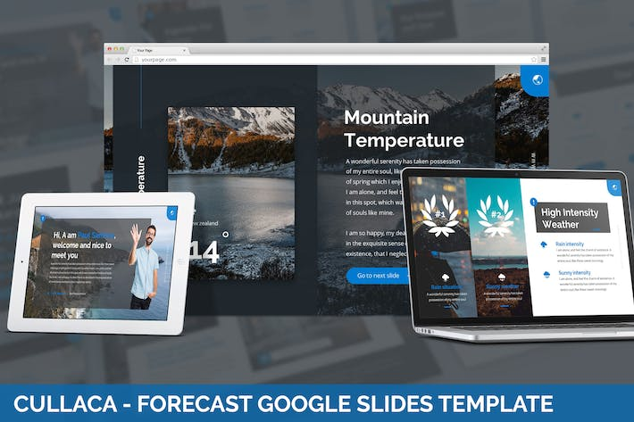 Thumbnail for Cullaca - Forecast Google Slides Template