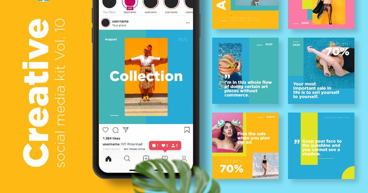 Download Creative Social Media Kit Vol. 10 - Keynote by CocoTemplates