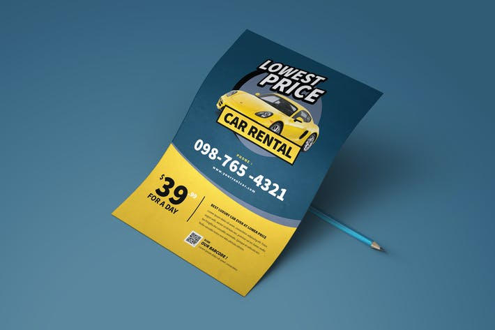 Cover Image For Car Rental Flyer