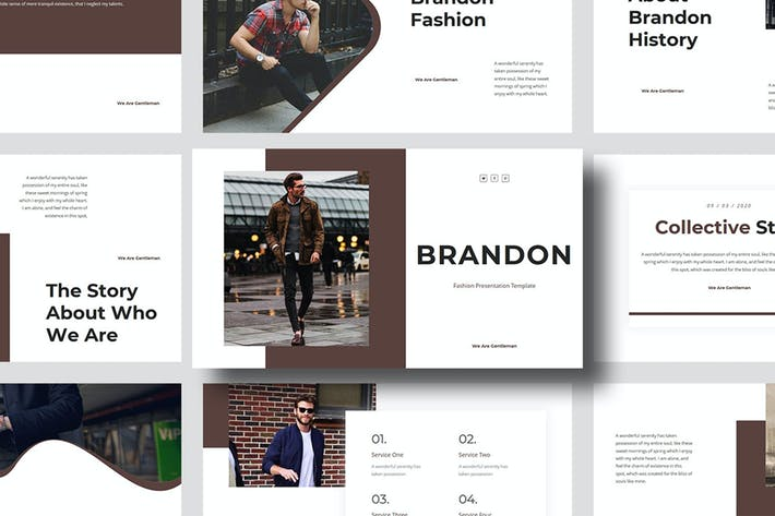Brandon – Man Fashion PowerPoint Template
