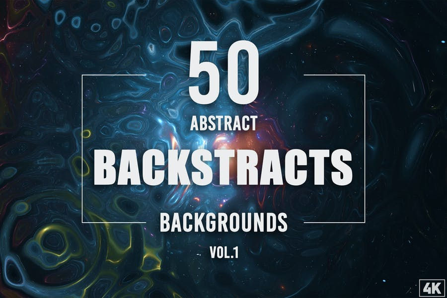 50 abstrakte Backstracts - Band 1