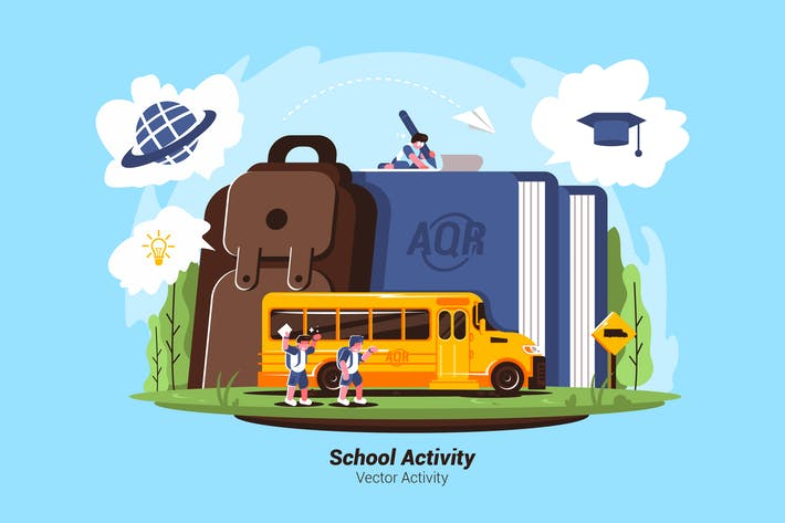 Thumbnail for School Activity - Vector Illustration