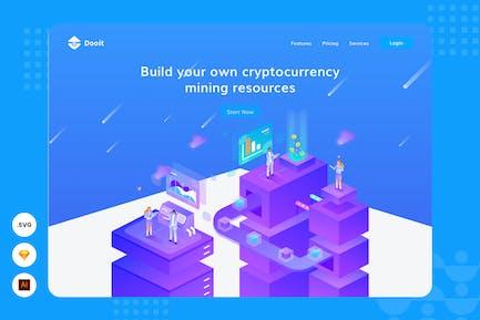 Financial Resource - Website Header - Illustration