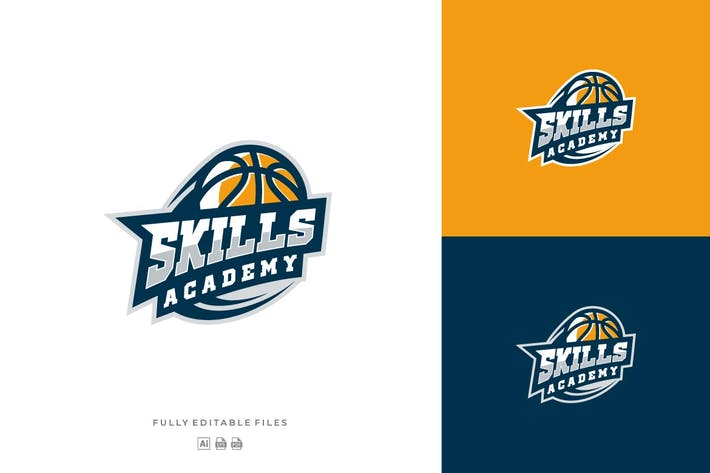 Thumbnail for Basketball Sport Logo Template