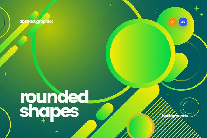 Cover Image For Abstract Rounded Shapes Backgrounds