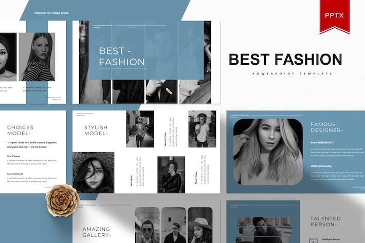 Thumbnail for Лучшая мода | Шаблон Powerpoint