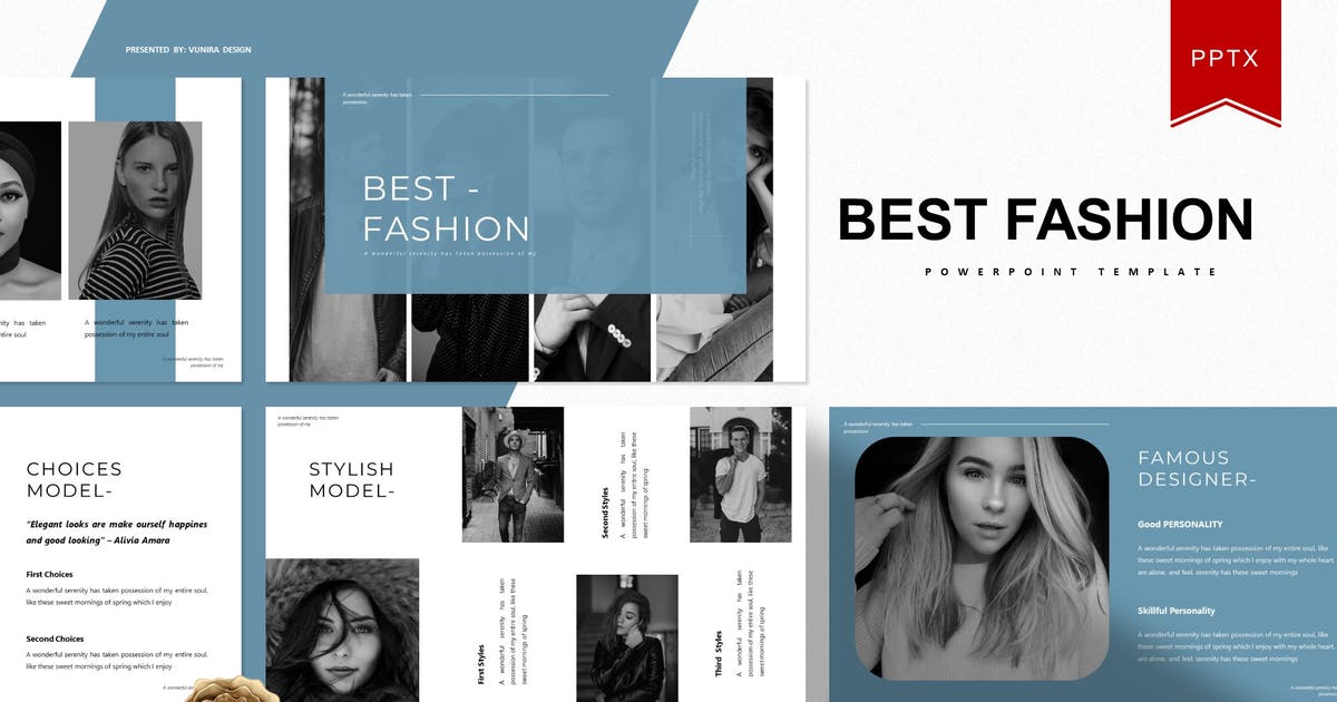Download Best Fashion | Powerpoint Template by Vunira