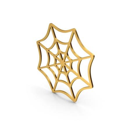 Symbol Spider Web Gold