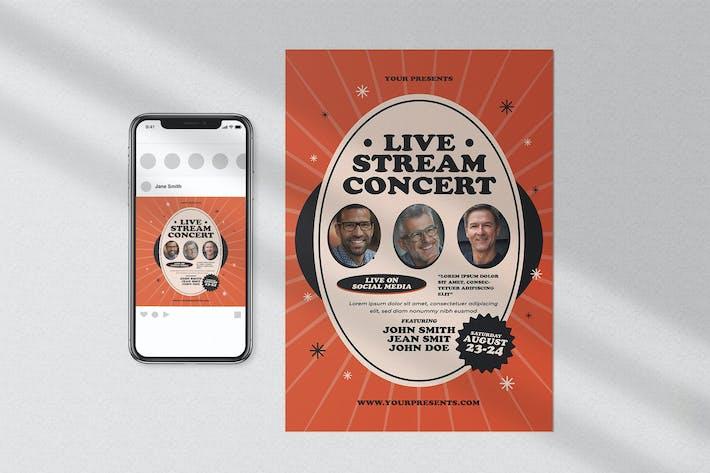 Thumbnail for Live Stream Concert Flyer