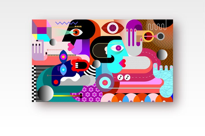 Thumbnail for Три человека и металлические сферы вектор иллюстрация
