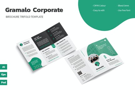 Gramalo - Trifold Brochure Template