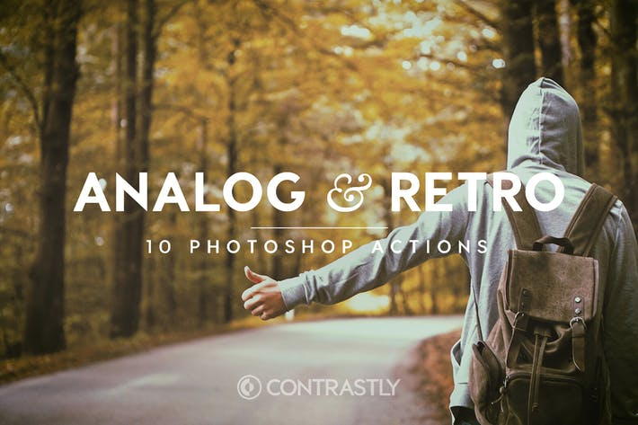 Thumbnail for Analog & Retro Photoshop Actions