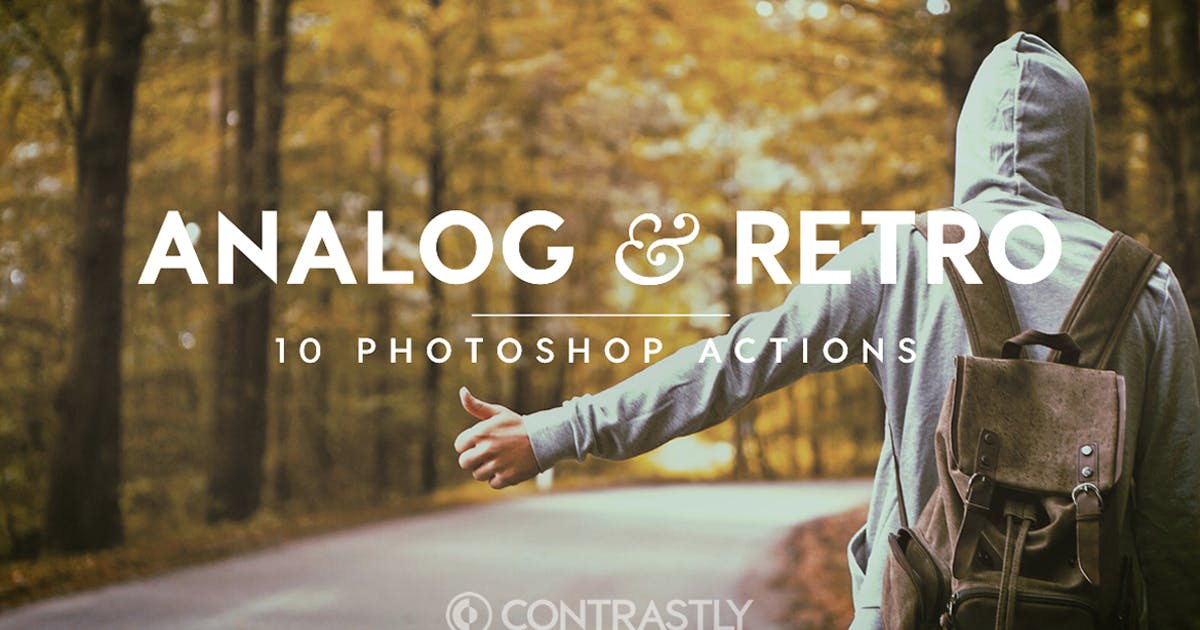 Download Analog & Retro Photoshop Actions by Contrastly