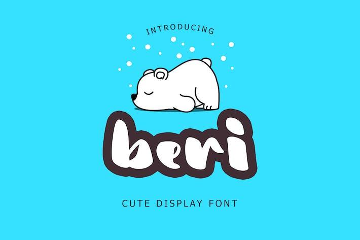 Thumbnail for Beri Cute Display Font