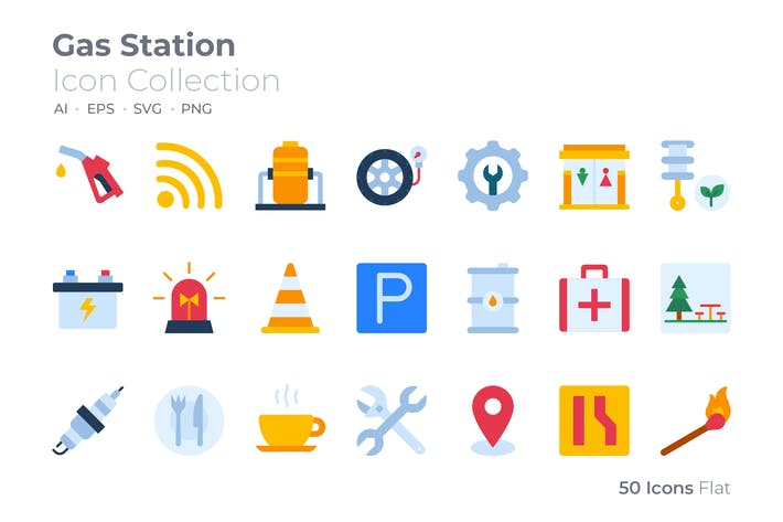 Gas Station Color Icon