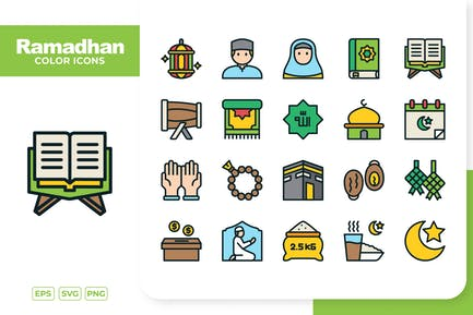 Ramadhan Color Icons