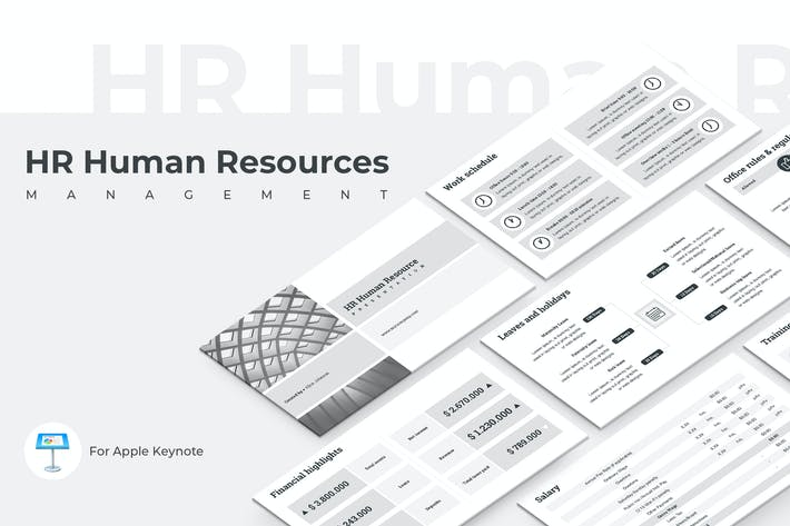 Thumbnail for HR Human Resources Keynote Template
