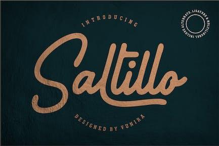 Saltillo   Script Font