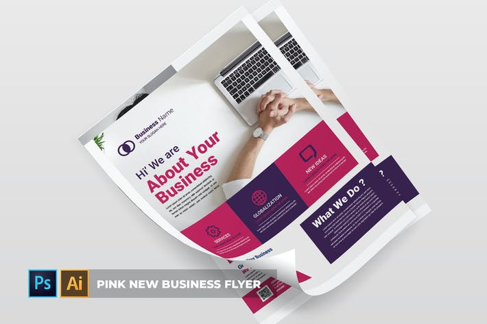 Thumbnail for Pink New Business | Flyer