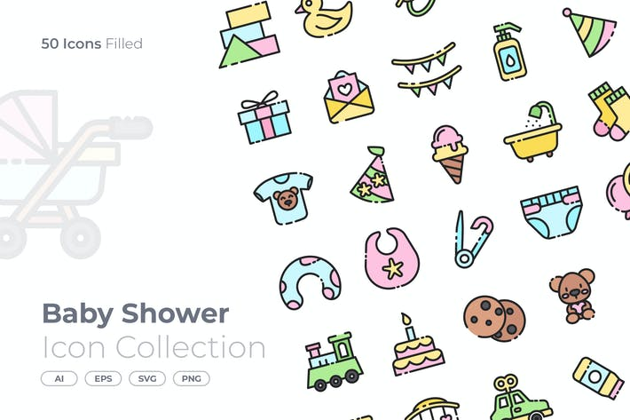 Thumbnail for Baby Shower Filled Icon