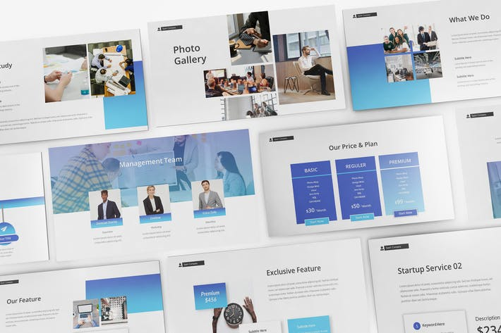 Startup Landing Page Keynote Template