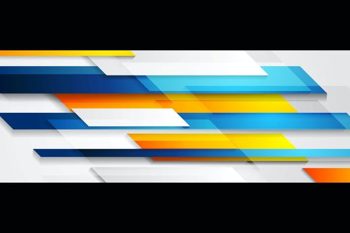 Thumbnail for Bright technology geometric abstract banner