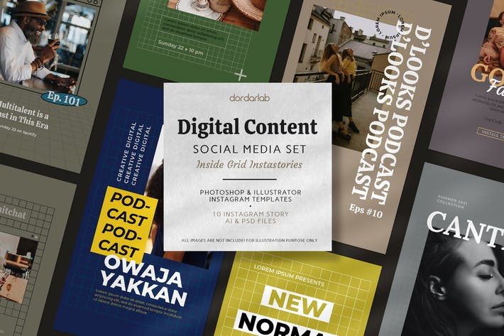 Grid, Digital Content Instagram Pack