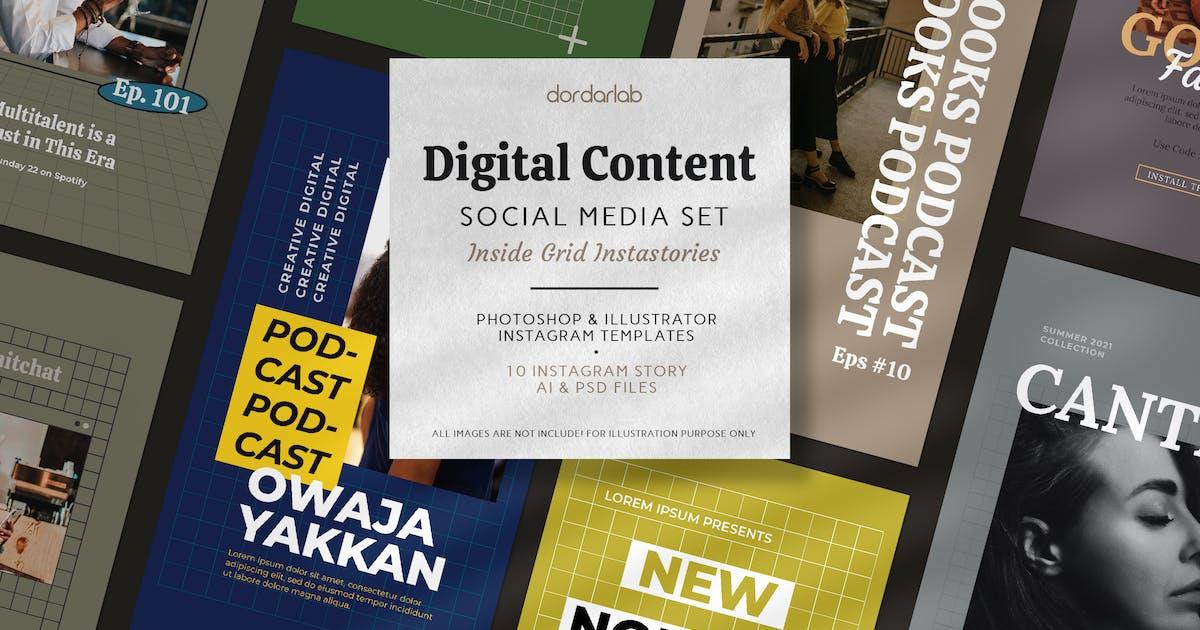 Download Grid, Digital Content Instagram Pack by bayurakhmadio