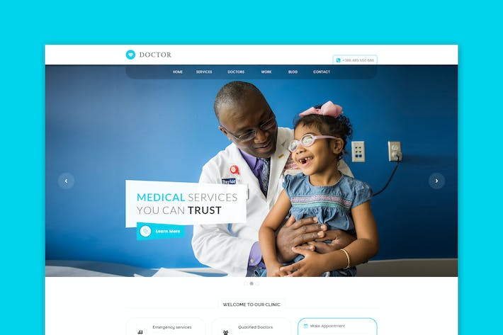 Thumbnail for Doctor - Medical & Health HTML Template