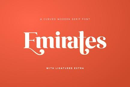 Emirates - Hermosa fuente curva