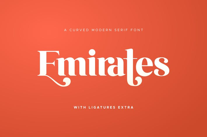 Thumbnail for Emirates - Beautiful Curved Font