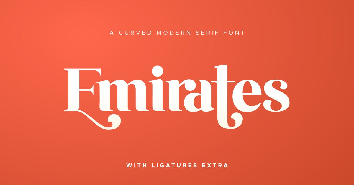 Download Emirates - Beautiful Curved Font by HamzStudio