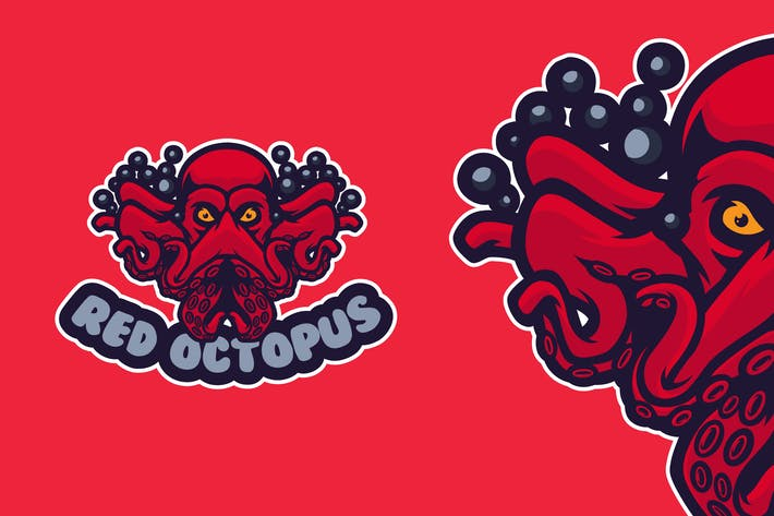 Thumbnail for Red Octopus - LOGO