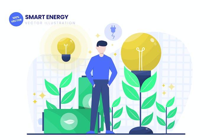 Thumbnail for Smart Energy Flat Vector Illustration