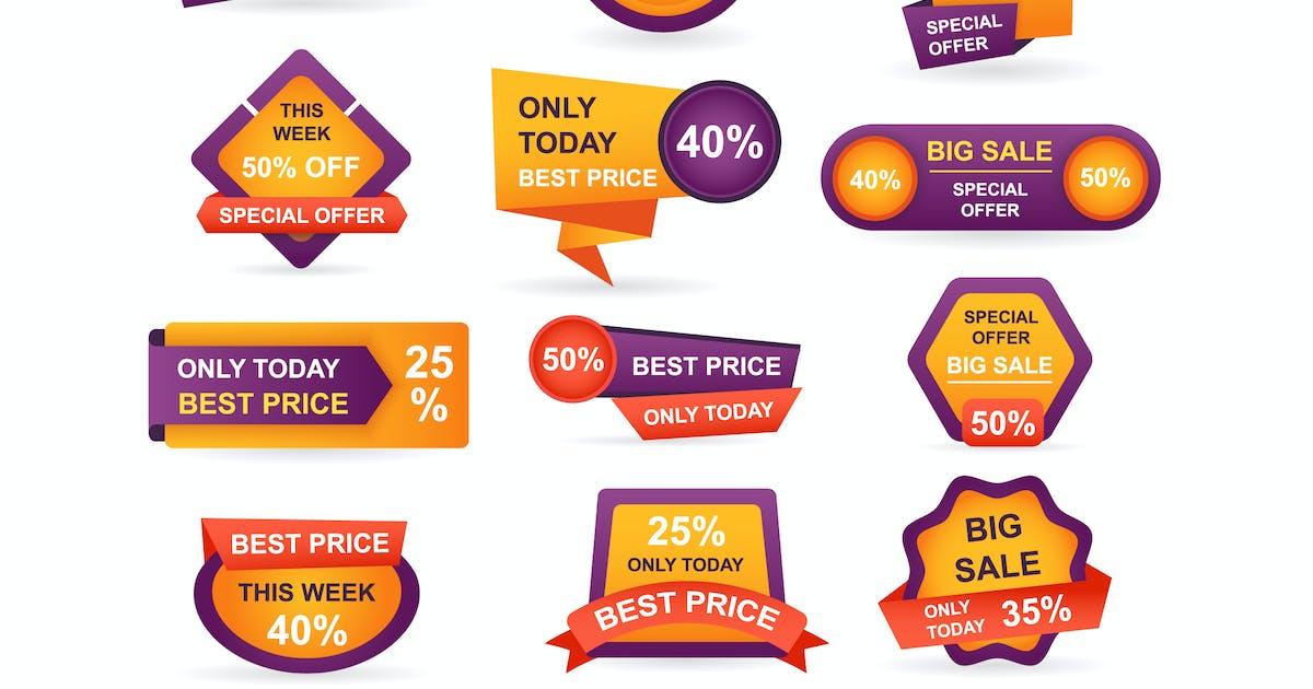 Download Retail Sale Tags Stickers Best Offer by alexdndz