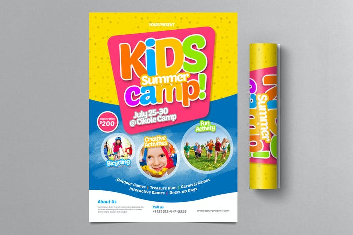 Thumbnail for Kids Summer Camp Flyer