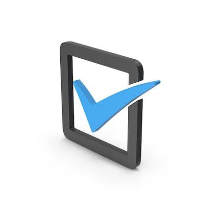 Symbol Check Box Blue