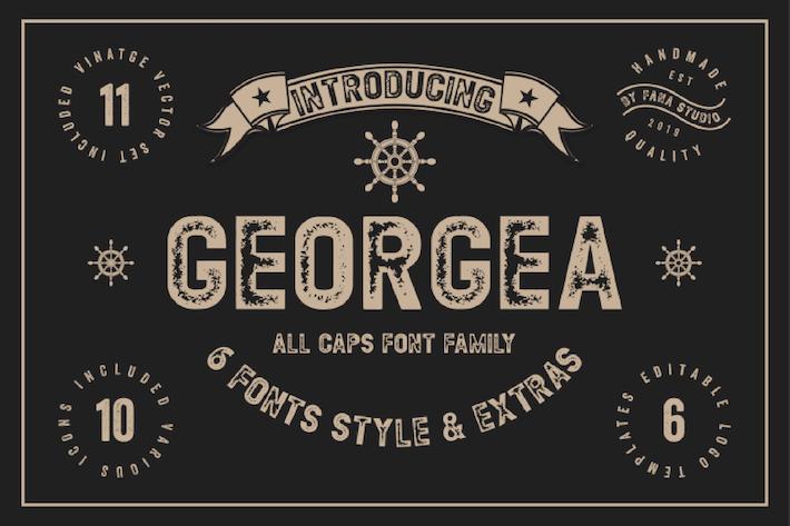 Thumbnail for Georgea - Vintage Font