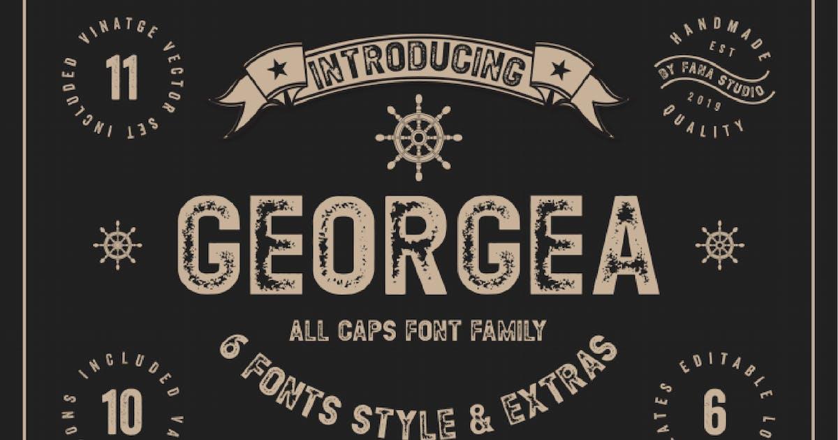 Georgea Vintage Font - [code FH] by GranzCreative